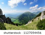 the slope on the great rozsutec ... | Shutterstock . vector #1127054456