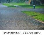 flooded streets in houston ...   Shutterstock . vector #1127064890
