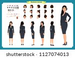 business casual fashion. front  ... | Shutterstock .eps vector #1127074013
