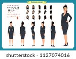 business casual fashion. front  ... | Shutterstock .eps vector #1127074016