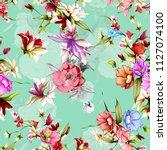 seamless vintage floral pattern....   Shutterstock .eps vector #1127074100