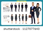 business man and woman... | Shutterstock .eps vector #1127077643