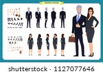 business man and woman... | Shutterstock .eps vector #1127077646