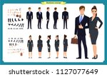 business man and woman... | Shutterstock .eps vector #1127077649