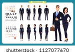 business man and woman... | Shutterstock .eps vector #1127077670