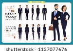 business man and woman... | Shutterstock .eps vector #1127077676