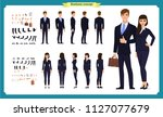 business man and woman... | Shutterstock .eps vector #1127077679