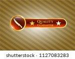 golden emblem or badge with... | Shutterstock .eps vector #1127083283