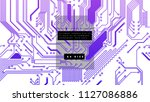 printed circuit board abstract... | Shutterstock .eps vector #1127086886