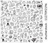 school education doodle set  ... | Shutterstock .eps vector #1127092196