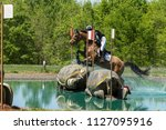equestrian cross country water... | Shutterstock . vector #1127095916