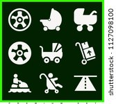 set of 9 transport filled icons ... | Shutterstock .eps vector #1127098100