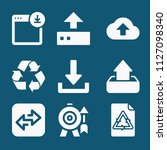 set of 9 arrows filled icons... | Shutterstock .eps vector #1127098340