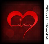 Heart And Heartbeat Symbol On...