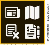 set of 4 paper filled icons...   Shutterstock .eps vector #1127101334