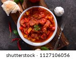 traditional hungarian dish  ... | Shutterstock . vector #1127106056