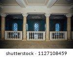 inside of old creepy abandoned... | Shutterstock . vector #1127108459