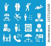 people related set of 16 icons... | Shutterstock .eps vector #1127110100