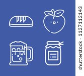 food related set of 4 icons... | Shutterstock .eps vector #1127112143