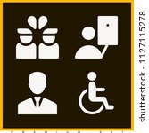 set of 4 man filled icons such...   Shutterstock .eps vector #1127115278