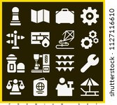 set of 16 other filled icons...   Shutterstock .eps vector #1127116610