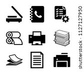 set of 9 paper filled icons...   Shutterstock .eps vector #1127127950