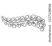 branch. vector illustration | Shutterstock .eps vector #1127138036