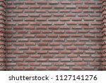 grunge red or orange brick wall ... | Shutterstock . vector #1127141276