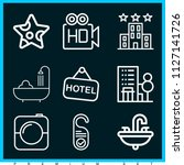 set of 9 holidays outline icons ...   Shutterstock .eps vector #1127141726
