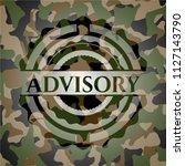 advisory on camo pattern | Shutterstock .eps vector #1127143790