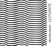 irregular wavy lines black and... | Shutterstock .eps vector #1127145473