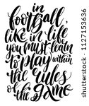 quote about football   in... | Shutterstock .eps vector #1127153636