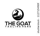 mountain goat logo template | Shutterstock .eps vector #1127154989