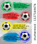 soccer banner with a place for... | Shutterstock .eps vector #1127164676