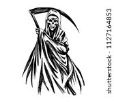 Hand Inked Grim Reaper...