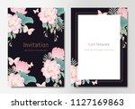 botanical wedding invitation... | Shutterstock .eps vector #1127169863