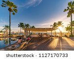 spain  ibiza   july 2018  the... | Shutterstock . vector #1127170733