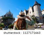 tourist is traveling at french... | Shutterstock . vector #1127171663