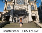 tourist is traveling at french... | Shutterstock . vector #1127171669