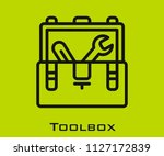 toolbox icon signs | Shutterstock .eps vector #1127172839