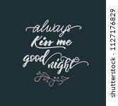 lettering poster for bedroom ... | Shutterstock .eps vector #1127176829