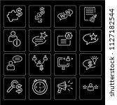 set of 16 icons such as rating  ...