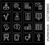 set of 16 icons such as... | Shutterstock .eps vector #1127183603