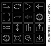 set of 16 icons such as down... | Shutterstock .eps vector #1127184050