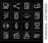 set of 16 icons such as file ... | Shutterstock .eps vector #1127184233