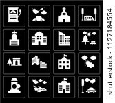 set of 16 icons such as car ... | Shutterstock .eps vector #1127184554