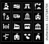 set of 16 icons such as circus  ... | Shutterstock .eps vector #1127184704