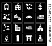 set of 16 icons such as...   Shutterstock .eps vector #1127184788