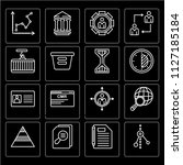 set of 16 icons such as graph ...