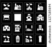 set of 16 icons such as phone... | Shutterstock .eps vector #1127185694